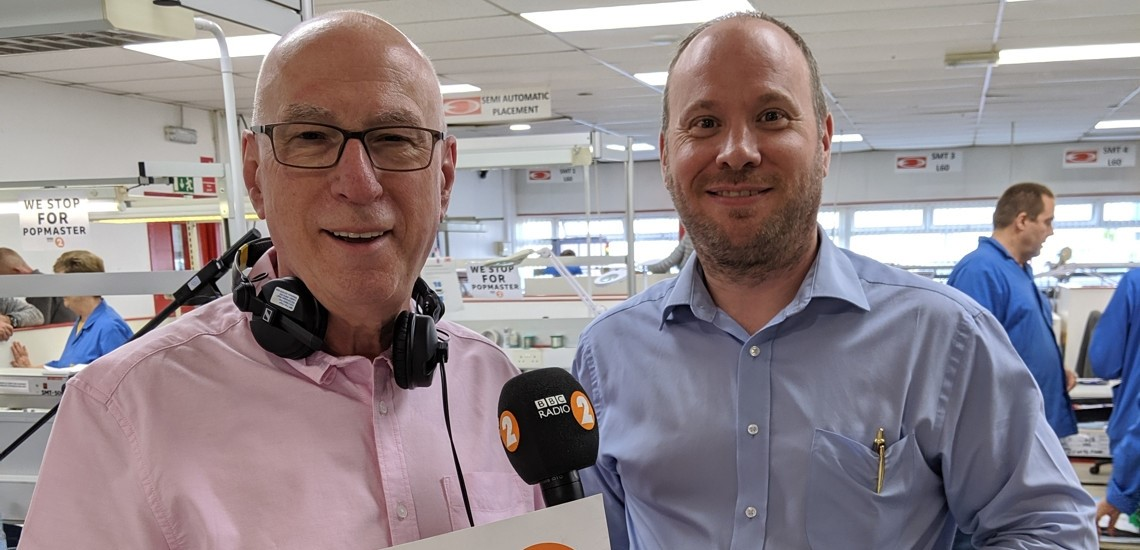 Philip Briscoe of European Circuits with Ken Bruce